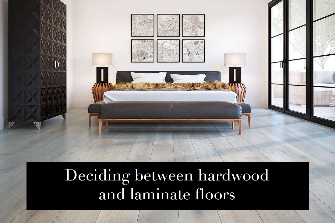 Deciding between hardwood and laminate floors